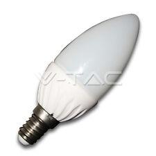 LAMPADINA BULBO CANDELA LED V-TAC ATTACCO E14 4W = 30W  VT-1818 ANGOLAZIONE 120°