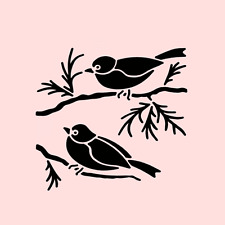 SPARROW STENCIL SPARROWS BIRDS BIRD BRANCHES CRAFT TEMPLATE NEW BY STENSOURCE