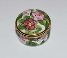 Halcyon Days Enamel Small Trinket Pill Box -La Traviata - Metropolitan Opera-Mib