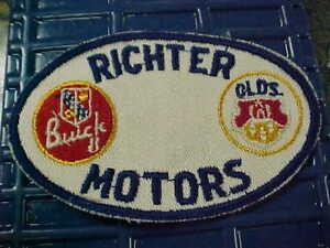 1930s RICHTER BUICK 8 OLDSMOBILE DEALERSHIP PATCH NOS CAR COLLECTORS BEST CHOICE