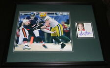 AJ Hawk SNOW Signed Framed 16x20 Photo Poster Display Packers OSU