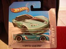 Hot Wheels '11 Corvette Grand Sport HW City Short Card Blue