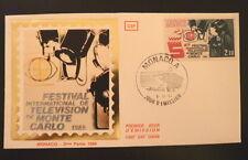 MONACO PREMIER JOUR FDC YVERT  1446     FESTIVAL DE TELEVISION    2,10F     1984