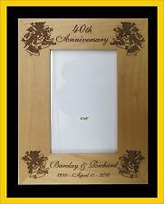 Personalized Engraved Wedding Anniversary Frame Gift