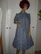 True Vintage Blue Dress in Liberty Fabric Size 8 from the 80s