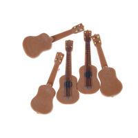 Instrumento Música Miniatura Casa de Muñecas Guitarra Clásica Decoración Ho*ws