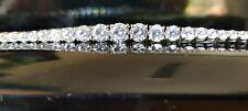 White gold finish graduated timeless created diamonds tennis bracelet gift idea