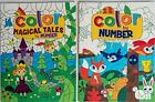 Color by Number Fairytales Hidden Pictures Kids Coloring Book Activity Books Set
