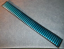 ROWI Germany 17mm SPECIAL 3 PRONG ENDS Metallic Blue Expansion Watch Band