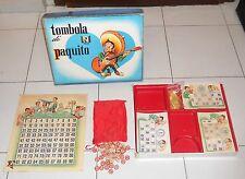 TOMBOLA DI PAQUITO Bingo Anni 50/60 Marca Stella Lovo Messico Mexican