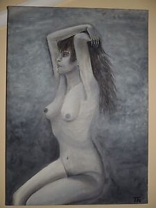 NUDE CANVAS OIL PAINTING. 50X70