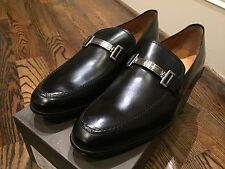 650$ Bally Lebel Black Leather Loafers Size US 11.5 Made in Switzerland
