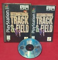 International Track & Field Playstation 1 2 PS1 PS2 Game Complete Works Long Box