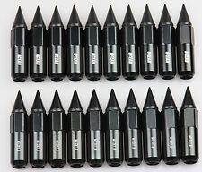 Brand New 20PCS Black M12X1.5 Racing Wheel 60MM Lug Nuts For Honda