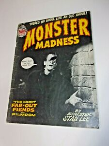 Marvel Comics Monster Madness Magazine # 1 First Issue 1972 Universal Monsters