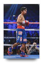Manny Pacquiao Signed 18x12 Photo Boxing Champion Autograph Memorabilia COA