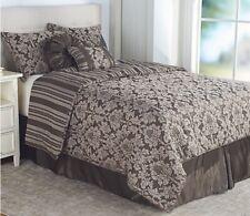 Northern Nights Jacquard Reversible 7-Piece King Comforter Set, Mocha
