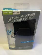 ThinOptics Reading Glasses iPHONE 6 PLUS Case Black Frame, +2.00