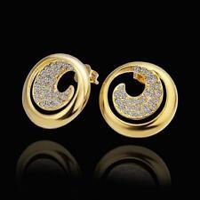 ASAMO Damen Ohrstecker Ohrringe vergoldet mit Zirkonia Steinen OG1404