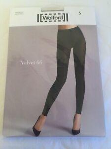 Wolford Velvet 66 Leggings, Opaque, Black In SMALL UK 10-12