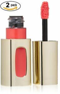 2pcs Loreal Colour Riche Extraordinaire Lip Color 202 Coral Encore .18floz