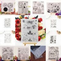 1X Alphabet Transparent Silicone Clear Rubber Stamp Cling Diary Scrapbooking