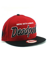 New Era Deadpool 9fifty Snapback Hat Merc With A Mouth Adjustable Marvel Red NWT