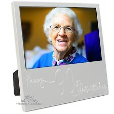 New Engraved Silver 90th Birthday Photo Frame Gift Celebration Memory Picture