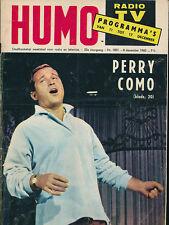 HUMO 1057 (11/12/60) PERRY COMO LEO FERRE FRED ASTAIRE DISTEL GLORIA LASSO