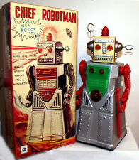 CHIEF ROBOTMAN ROBOT TIN TOY BATTERY OPERATED SPACE TOY for Display