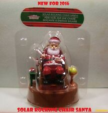 SOLAR POWERED ROCKING CHAIR SANTA **NEW 2016  Also get Poinsettia, Elf and Teddy