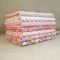 7 PCS 50x50cm Fabric Bundle Stash Cotton Patchwork Sewing Quilting Tissue Cloth