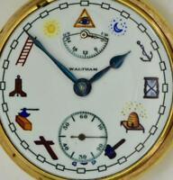 WOW! RARE antique Waltham Up/Down WIND INDICATOR 21j CHRONOMETER Masonic watch