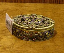 """Welforth Jeweled Trinket Box #J3298 OVAL BOX, NIB from Retail Store 1"""" x 3"""""""
