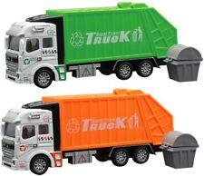 City Vehicle Waste Garbage Bins Sanitation Service Truck Diecast Metal Model NEW