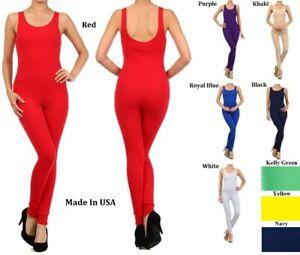 womens Jumpsuit plus size  bodysuit sleeveless footless unitard  XL - XXXL 16-24