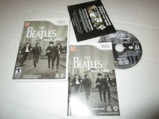 NINTENDO WII THE BEATLES ROCK BAND VIDEO GAME COMPLETE CASE MANUAL