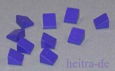 Lego - 10 x mini-Dachstein 30 ° 1x1x2/3 morado/dark purple/54200 productos nuevos (a8)
