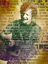 """28 Ed Sheeran - English Singer Songwriter Music Art 14""""x19"""" Poster"""