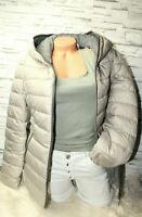 Italy Jacke Damen Winterjacke Steppjacke Gr. 36 38 40 M taupe Kapuze blogger