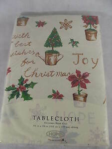 """Target Home for the Holidays Christmas Hope Vinyl Tablecloth 52""""x70"""" Oblong"""