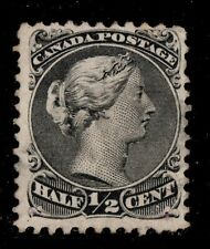 #21iv Large Queen 1/2c Canada used well centered