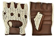 Cycling Gloves Crochet Back Grip Padded Palm Cycle Racing Glove Vintage Style