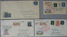 S1879) Rocket Mail Rocket Mail Netherlands 5 Documents Raket Flight 1945/46
