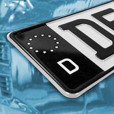 Nummernschild Kennzeichen EU Feld Auto Aufkleber schwarz Schutzlack - nur 4,99€