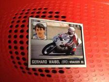 Gerhard Waibel Krauser 80 motorcycling Panini Motor Adventures sticker #134