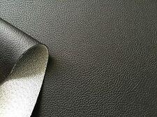 AUTO Kunstleder Meterware DUNKEL SCHWARZ wie echt Leder dehnbar 162cm breitDS162