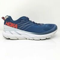 Hoka One One Mens Clifton 6 1102872 EBPA Blue Running Shoes Lace Up Size 11