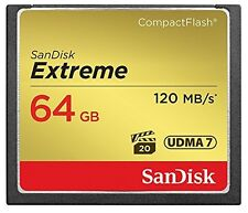 Sandisk Extreme 64GB 64G Compact Flash Card CF 120MB/s Full HD video 800x UDMA 7