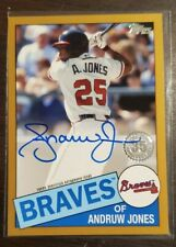 Braves Andruw Jones 2020 Series 2 gold auto #/50